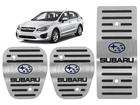 Pedaleira Subaru Impreza Manual em Aço Inox - Listrado Preto