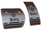 Pedaleira Volkswagen Bora Automático em Aço Inox - Listrado Preto