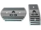 Pedaleira Citroen C3 Automático em Aço Inox - Listrado Preto