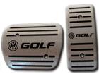 Pedaleira Volkswagen Golf Automático em Aço Inox - Listrado Preto