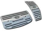 Pedaleira Kia Sportage 04/10 Automático em Aço Inox - Listrado Preto