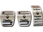 Pedaleira Renault Master Manual em Aço Inox - Listrado Preto