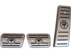Pedaleira Ford Maverick Manual em Aço Inox - Listrado Preto