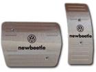 Pedaleira Volkswagen New Beetle Automático em Aço Inox - Listrado Prata