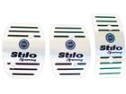 Pedaleira FiatStilo Sporting Manual em Aço Inox - Listrado Preto (Logo Fiat Azul)
