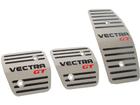 Pedaleira Chevrolet Vectra GT Manual em Aço Inox - Listrado Preto com GT em Vermelho