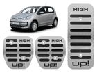 Pedaleira Volkswagen Up! High em Aço Inox - Listrado Preto
