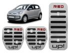 Pedaleira Volkswagen Up! Red em Aço Inox - Listrado Preto