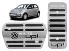Pedaleira Volkswagen Up! White Automatico em Aço Inox - Listrado Preto