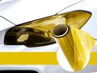 Película Adesiva Amarelo Farol e Lanterna 1m x 30cm Aplicação Universal