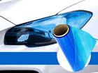 Película Adesiva Azul Escuro Farol Lanterna 1m x 30cm Aplicação Universal