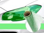 Película Adesiva Verde Farol e Lanterna 1m x 30cm Aplicação Universal