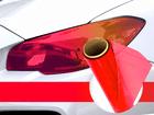 Película Adesiva Vermelho Camaleão Farol e Lanterna 1m Aplicação Universal