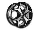 Roda KR K18 Aro 14x6 4x100 Preto Diamante ET40