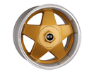 Roda KR K56 Esportiva Aro 17x7 5x100/5X114 Dourado Diamante ET38