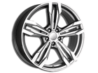 Roda KR R56 Réplica BMW M6 Aro 17x7 5x100 Grafite Diamante ET40