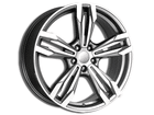 Roda KR R56 Réplica BMW M6 Aro 17x7 5x114 Grafite Diamante ET40
