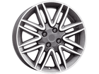 Roda KR R14 Réplica Punto Sporting Aro 17x7 4x98 Grafite Diamante ET 42