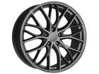 Roda KR R54 Réplica BMW 335 Biturbo Aro 17x7 5x114 Grafite Diamantado ET40