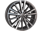 Roda KR R64 Réplica Corolla 2015 Aro 16x6 5x100 Grafite Diamante ET39
