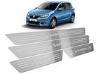 Soleira Renault Sandero 2015/.. Baixo Relevo Prata