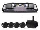 Retrovisor com Câmera de Ré e sensor de Estacionamento Preto