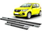 Soleira Fiat Mobi Easy em Aço Inox - Alto Relevo Preto
