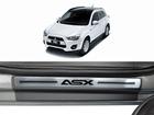 Soleira Premium Mitsubishi ASX Aço Escovado