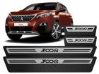 Soleira Premium Peugeot 3008 18/.. Aço Escovado
