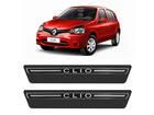 Soleira Premium Renault Clio Preto e Cromado
