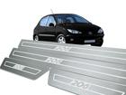 Soleira Standard Peugeot 206 4P Aço Inox Standard