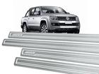 Soleira Standard Volkswagen Amarok Cabine Dupla Aço Inox Standard