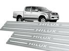Soleira Standard Toyota Hilux Cabine Dupla Aço Inox Standard