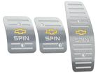 Pedaleira Chevrolet Spin Manual em Aço Inox - Listrado Prata