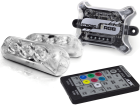 Kit Strobo AJK Som Automotivo RGB - 7 Cores - 2 Faróis Led 8 Efeitos - Com Controle Remoto