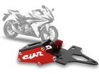 Suporte de Placa Articulado Honda CBR500R 2014/2016 Evolution Vermelho