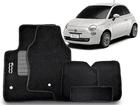 Tapete Carpete Fiat 500 Preto 5 Peças