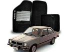 Tapete Carpete Chevette 83/95 Preto C/ Grafia Bordada 5 Pçs