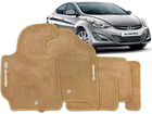 Tapete Carpete Hyundai Elantra 12/.. Bege 5 pçs