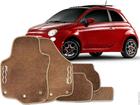 Tapete Carpete Fiat 500 Bege 5 Peças