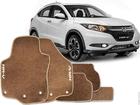 Tapete Carpete Honda HRV 15/.. Bege 5 pçs