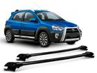 Rack Travessa de Teto para Toyota Etios Cross - Projecar Preto Largo