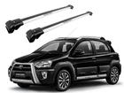 Rack Travessa de Teto para Toyota Etios Cross - Projecar Prata Largo